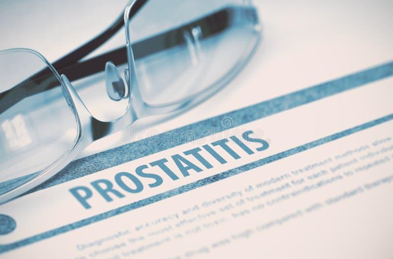 Diagnosis - prostatitis Concepto de la medicina ilustración 3D foto de archivo