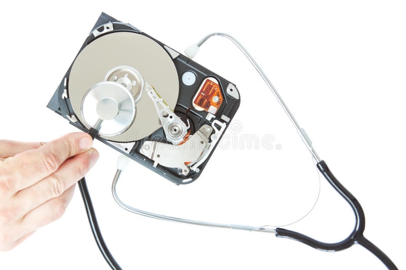 Download Diagnosis Of A Stethoscope Hard Drive. Stock Image - Image: 24830855