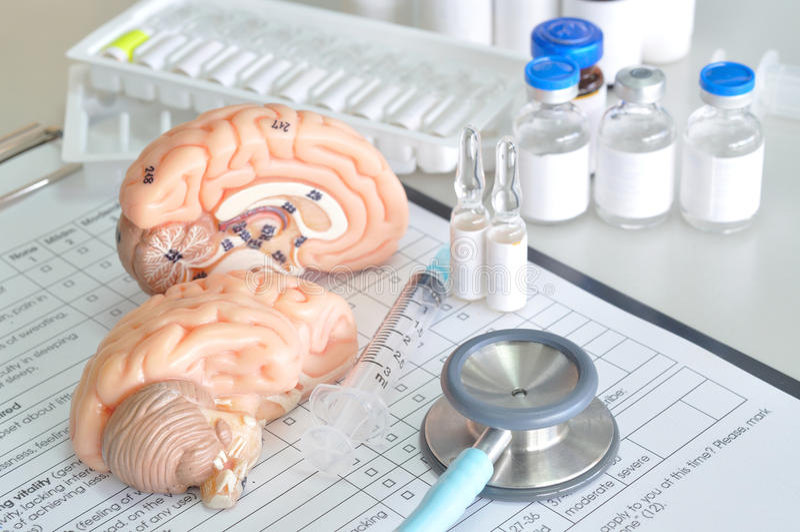 Diagnostic de l'esprit humain photos stock