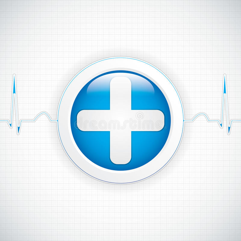Diagnostics button vector illustration