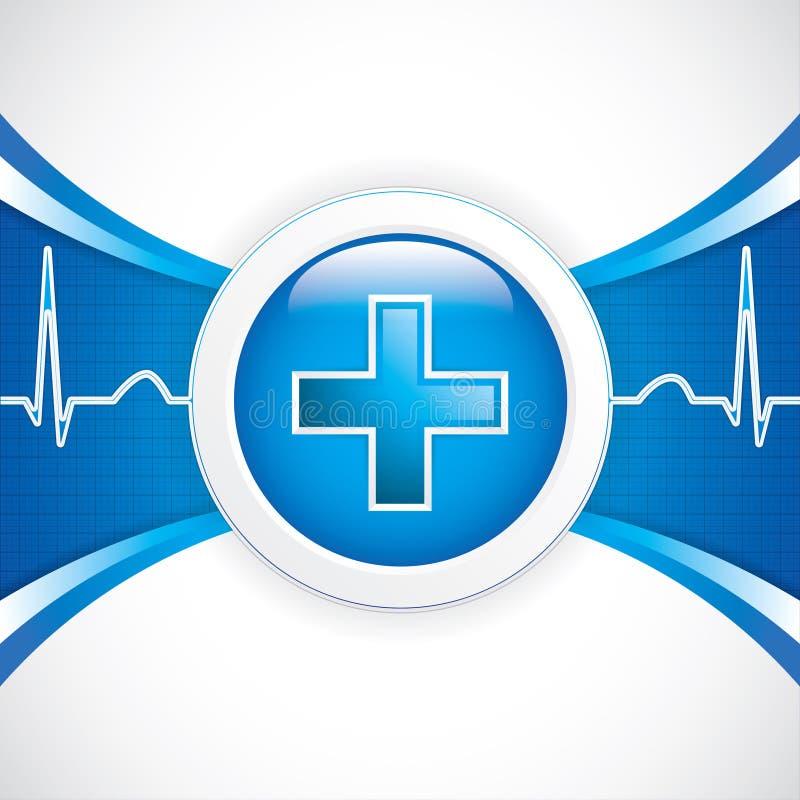 Diagnostics button stock illustration