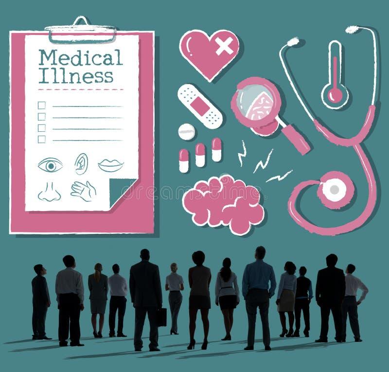 Diagnostique o conceito médico dos cuidados médicos do hospital da doença imagens de stock