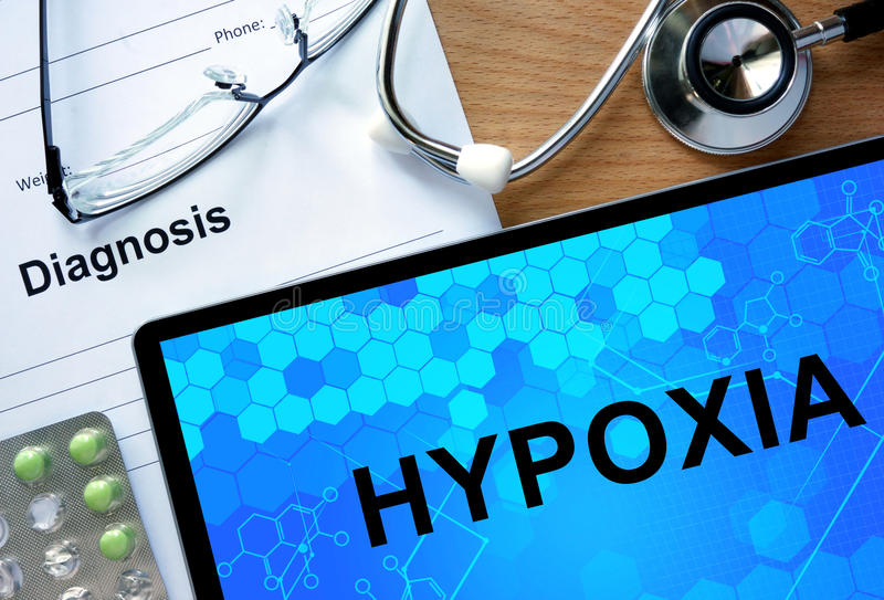 Diagnostyk forma z diagnozy Hypoxia obraz royalty free