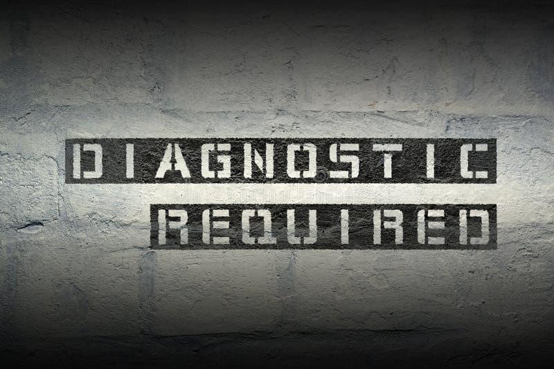Diagnostyk wymagany gr obrazy royalty free