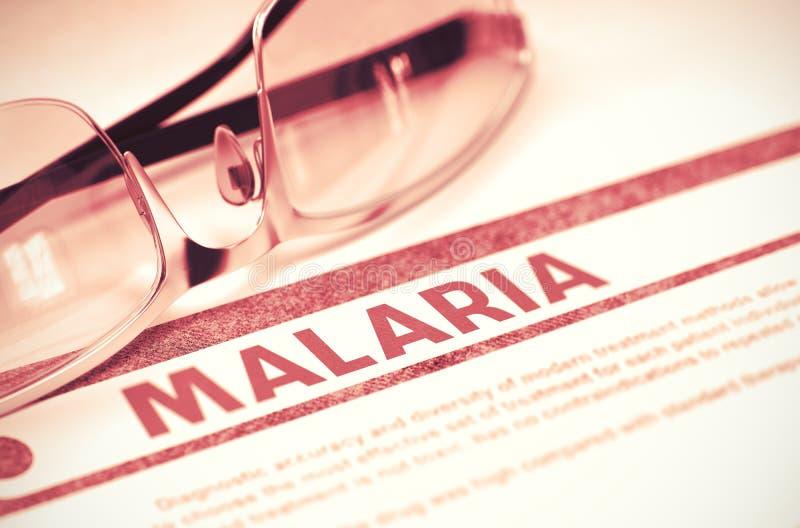 Diagnoza - malaria pojęcie kłama medycyny pieniądze ustalonego stetoskop ilustracja 3 d zdjęcia royalty free