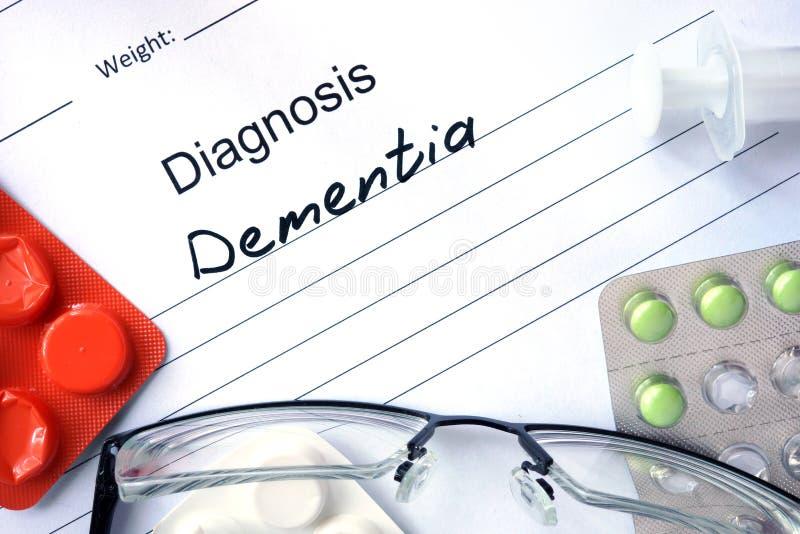 Diagnozy demencja, pigułki obrazy stock