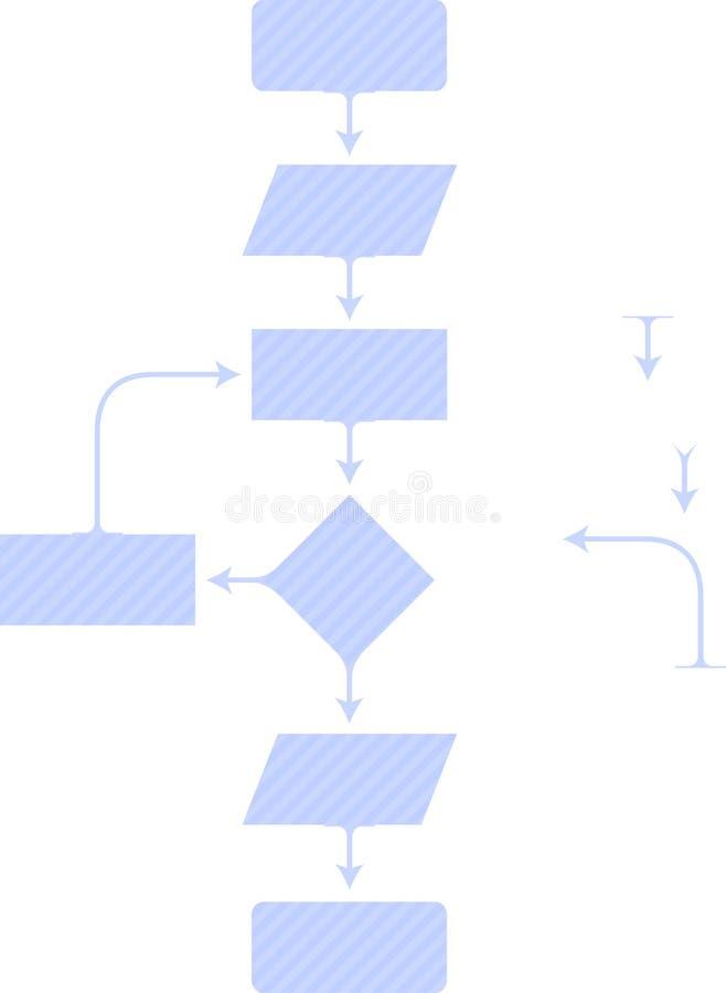 Diagonaal diagram stock illustratie