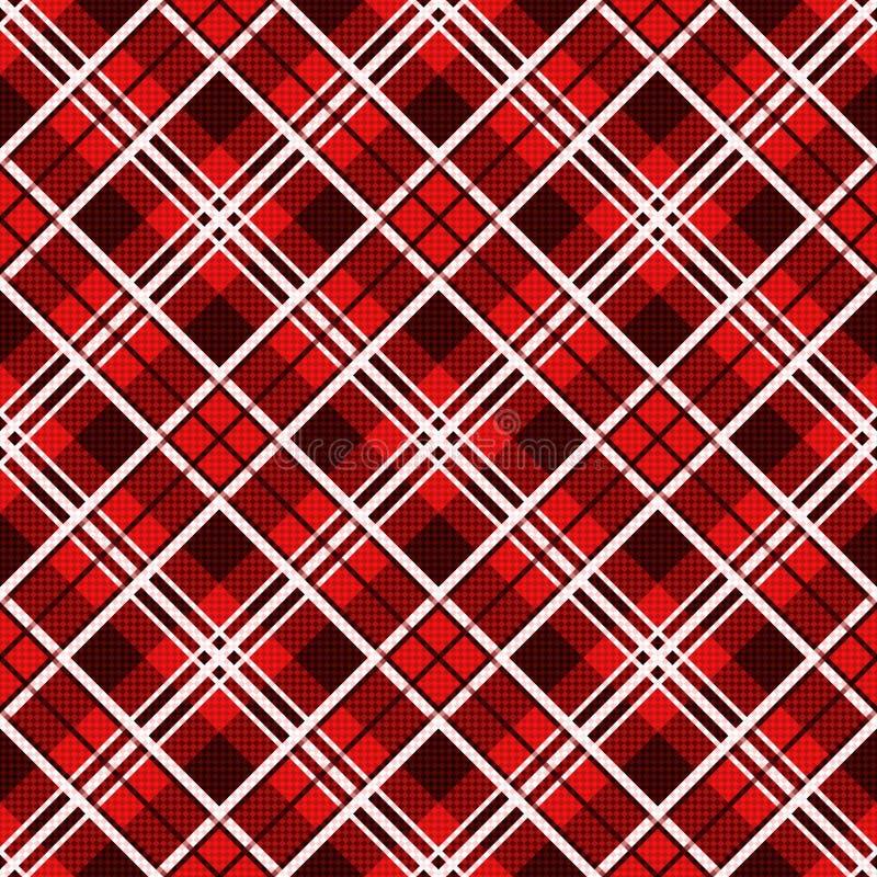 Diagonaal naadloos patroon in rode tinten stock illustratie