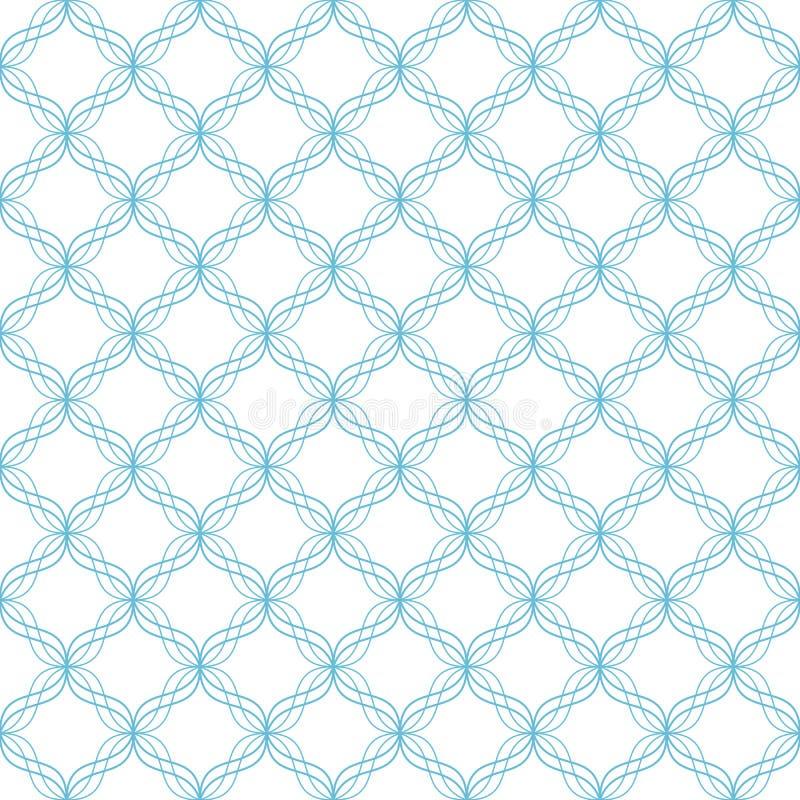 A diagonal azul alinha o teste padrão sem emenda ilustração do vetor
