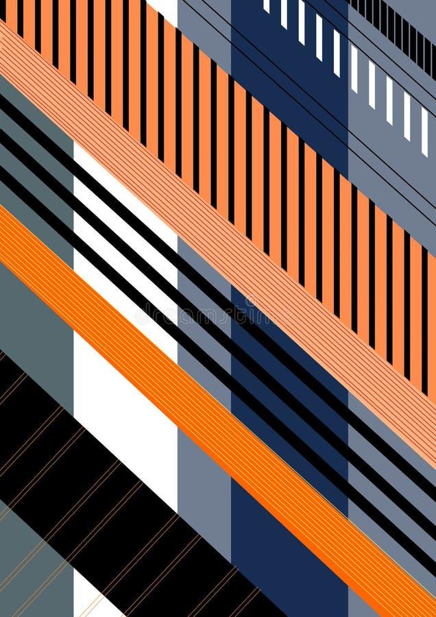Diagonal bandrepetitionmodell arkivfoton