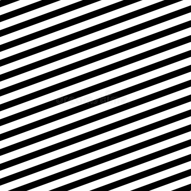 Diagonal black and white lines pattern vector illustration royalty free stock image