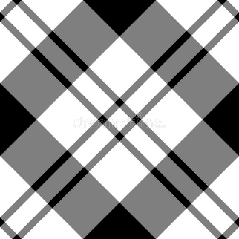 Diagonal blanca negra ilustración del vector