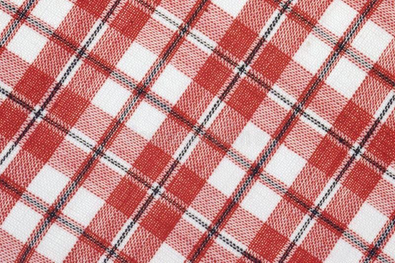 Diagonal Checked Cotton Fabric Stock Photography