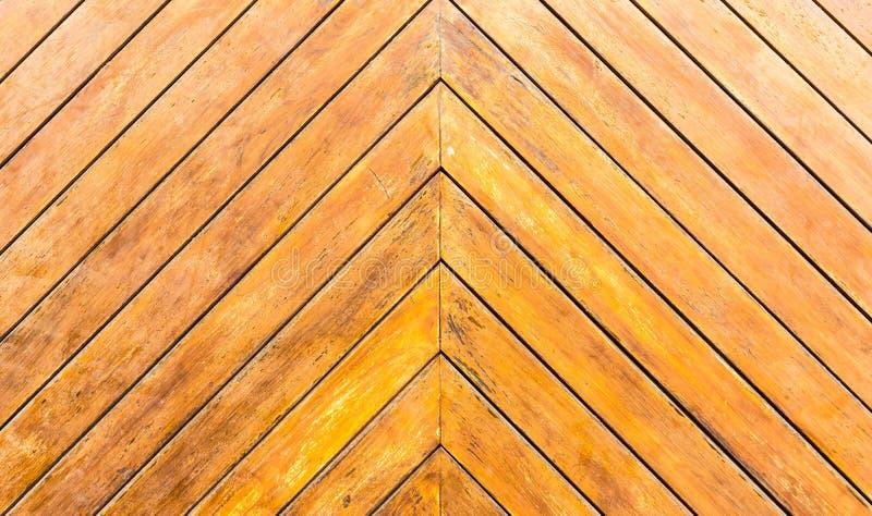 Diagonal de madeira das pranchas da porta imagem de stock