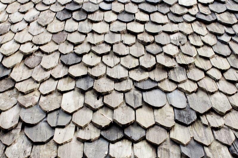 Diagonal detail of brown wood roof stock photos