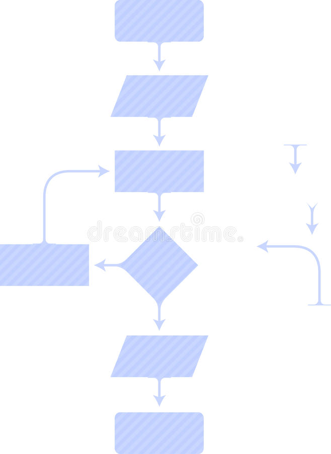 Diagonal diagram. Vector diagram easy to modify stock illustration