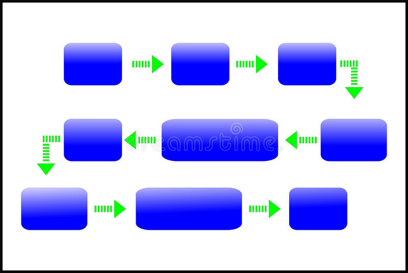 Diagonal diagram. Blue and green isolated on white royalty free illustration