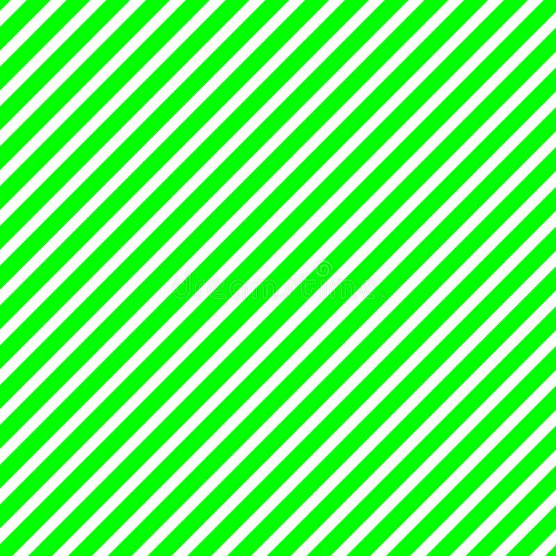 Diagonal green and white stripes. In square format vector illustration