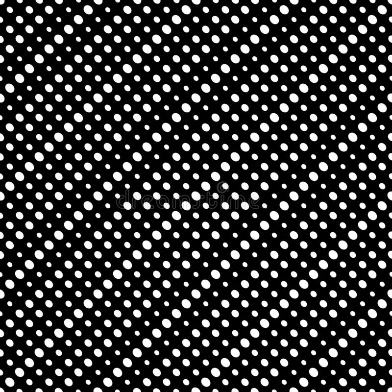 Diagonal halftone dots vector seamless pattern. Circles texture royalty free illustration
