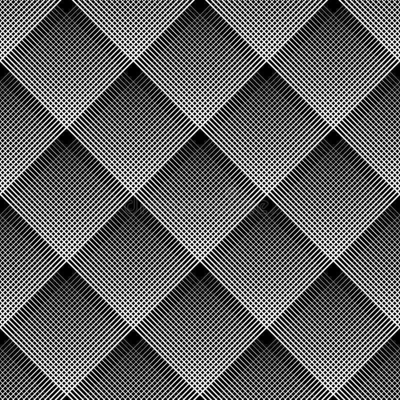 Diagonal kontrollerad modell geometrisk seamless textur royaltyfri illustrationer