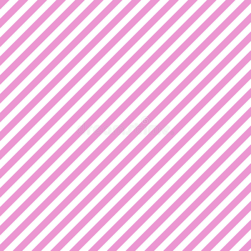 Diagonal Pink Striped Pattern Background stock illustration