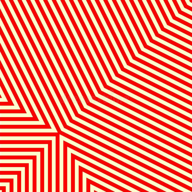 Diagonal randig röd vit modell Raka linjer texturbakgrund för abstrakt repetition vektor illustrationer