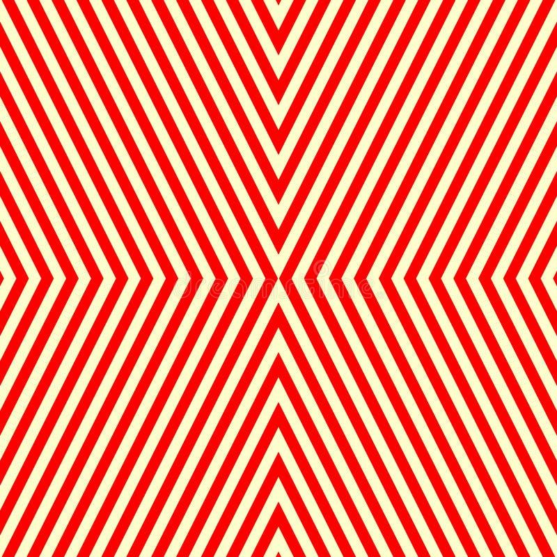 Diagonal randig röd vit modell Raka linjer texturbakgrund för abstrakt repetition royaltyfri illustrationer