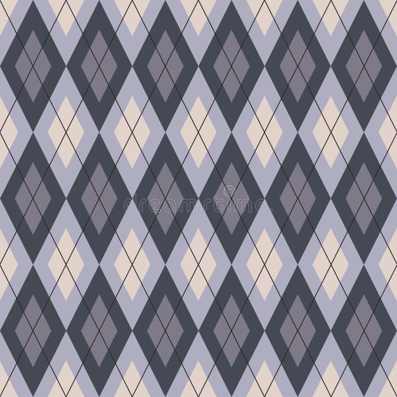 Diagonal romb för sömlös geometrisk modellplädcell vektor illustrationer