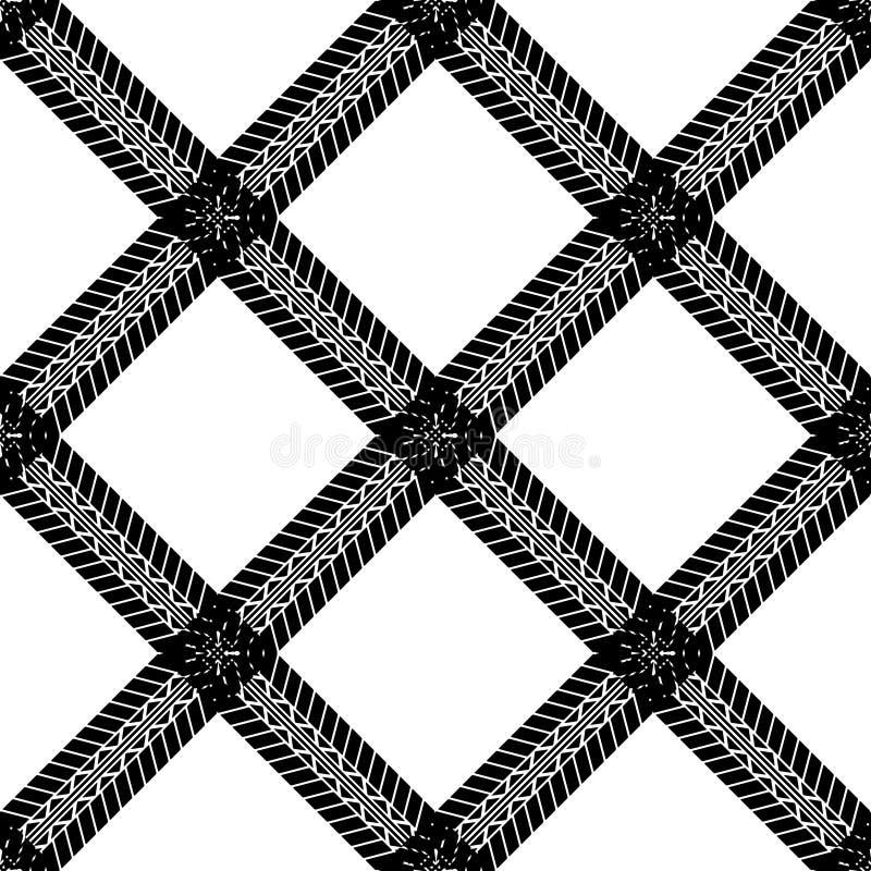 Seamless tire track wallpaper royalty free illustration