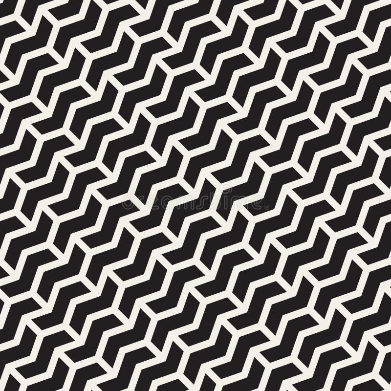 A diagonal sem emenda do ziguezague de Chevron do vetor alinha o teste padrão geométrico ilustração royalty free