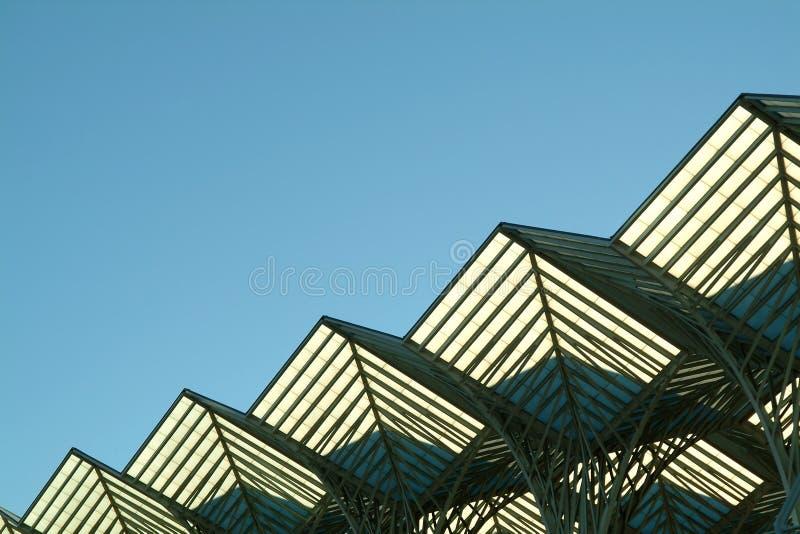 diagonal steel structure 免版税库存照片