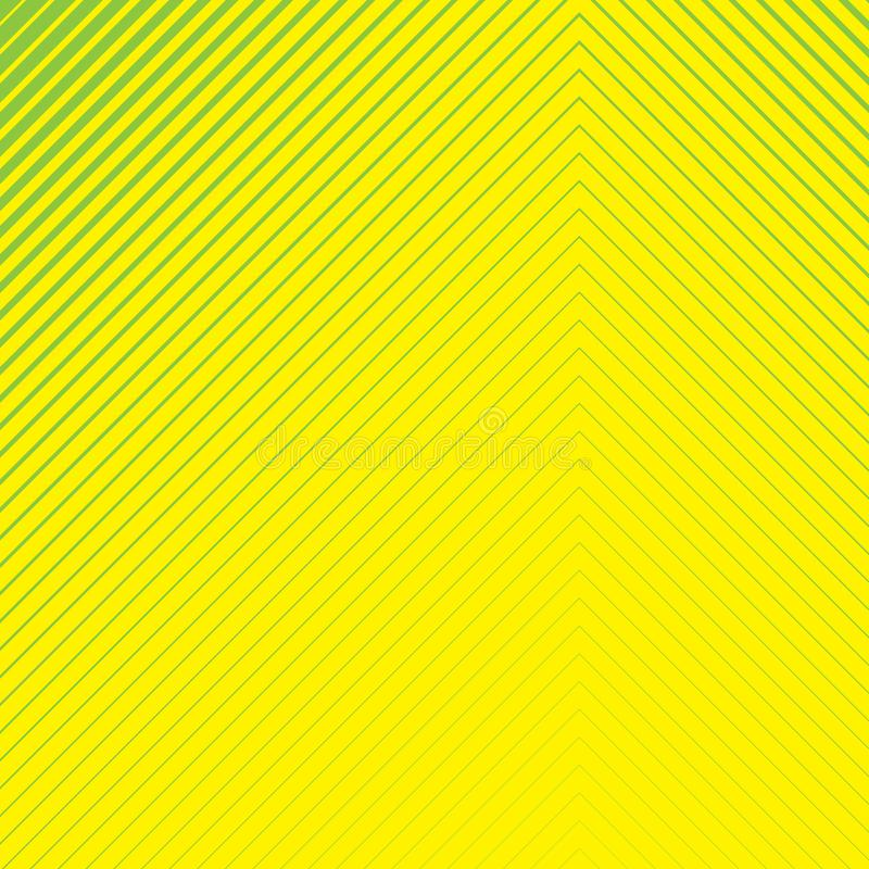 Striped geometrical diagonal parallel green lines pattern on yellow background. Repeat straight stripes texture background stock illustration
