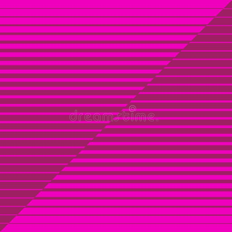 Striped geometrical diagonal parallel pink lines pattern on pink background. Repeat straight stripes texture background royalty free illustration