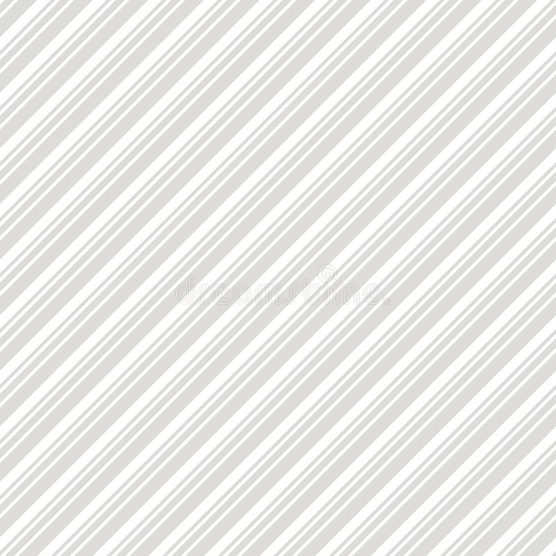 Diagonal stripes seamless pattern. Subtle gray and white vector lines texture royalty free illustration