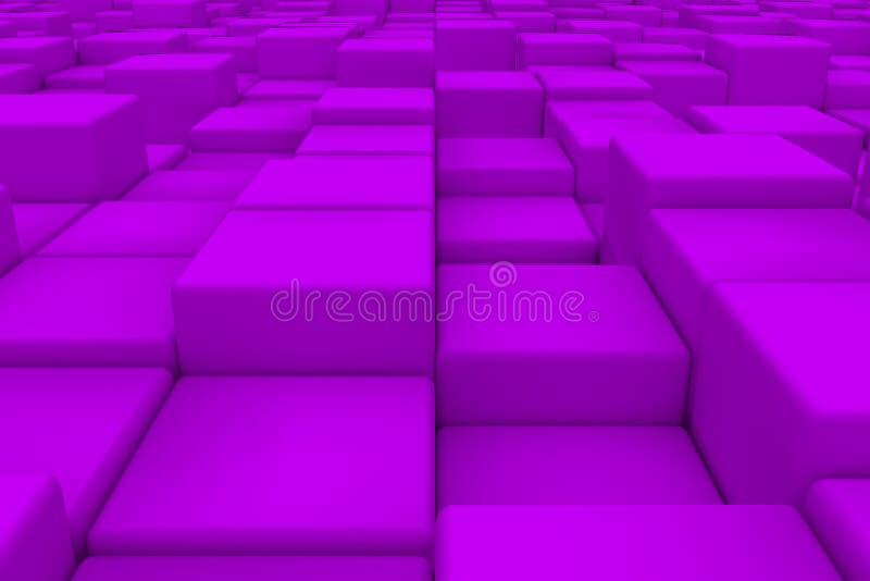Diagonal surface made of violet cubes vector illustration
