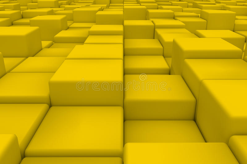 Diagonal surface made of yellow cubes vector illustration