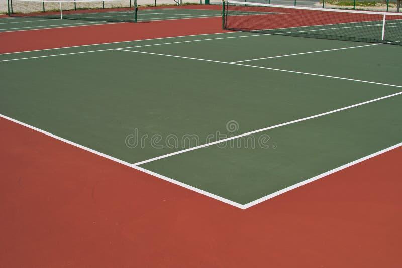 Diagonal Tennis Courts royalty free stock photos