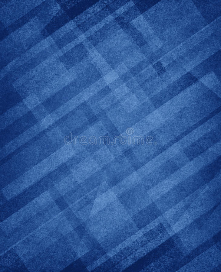 Diagonal white rectangles layers on primary blue background royalty free illustration