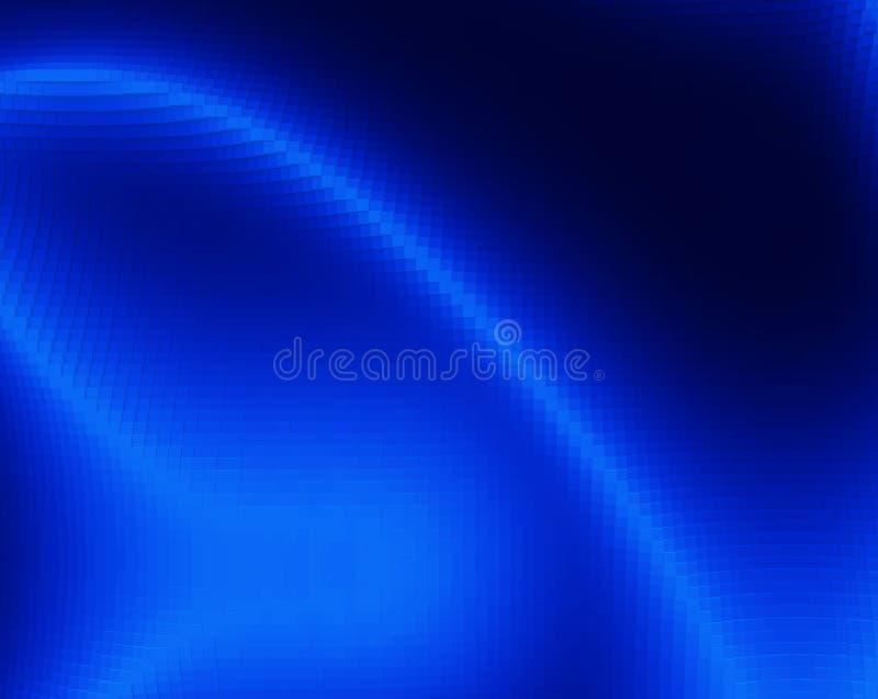 Diagonala blått 3d pressade ut abstrakt illustrationbakgrund för kuber stock illustrationer