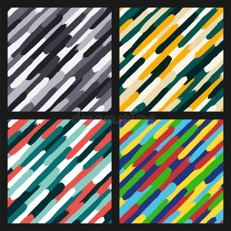 Diagonala färgrika band royaltyfri illustrationer