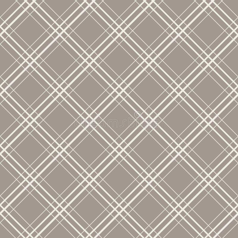 Diagonale überprüft nahtloses Vektormuster stock abbildung