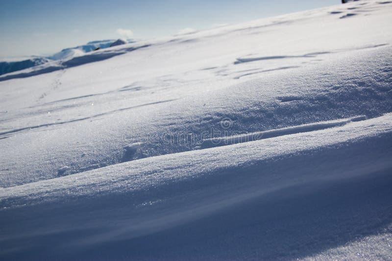 Diagonale de neige photos libres de droits