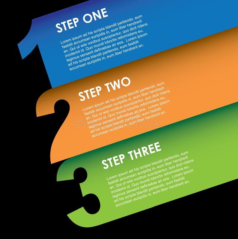 Diagonale di Inographics illustrazione di stock