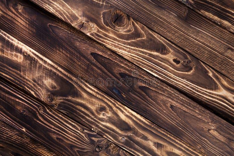 Diagonale donkere houten achtergrond, rustiek hout stock afbeelding