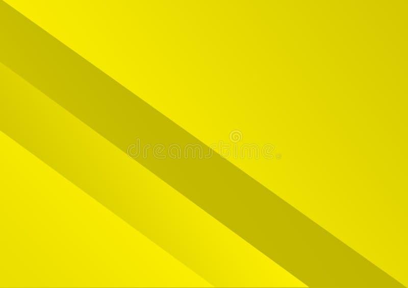 Diagonale gestreifte Linien gelber Hintergrundentwurf lizenzfreie abbildung