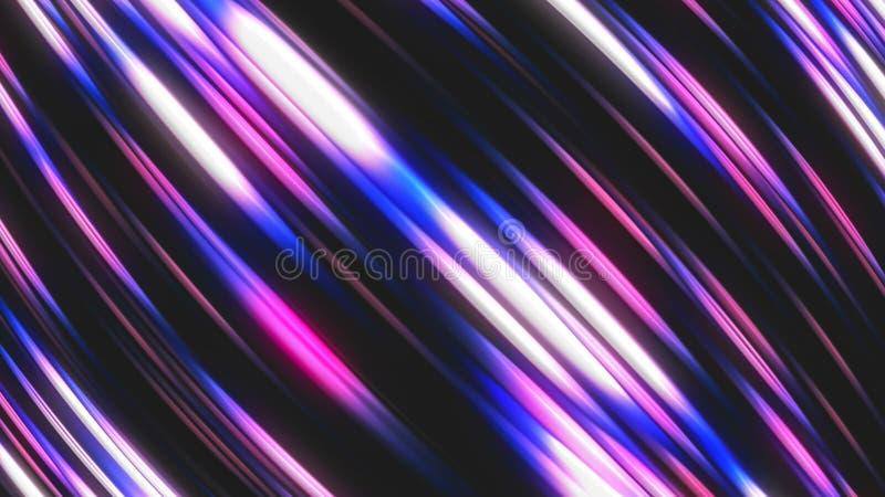 Diagonale glimmer strook, abstracte computer geproduceerde achtergrond, het 3D teruggeven royalty-vrije illustratie