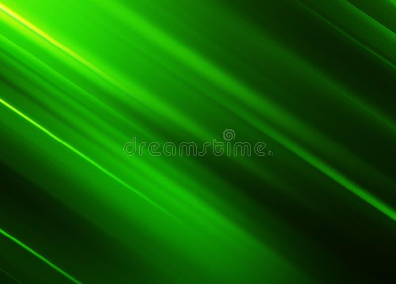 Diagonale grüne Bewegungsunschärfelinien Hintergrund lizenzfreie abbildung