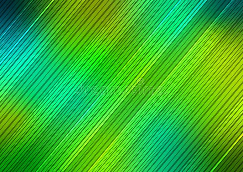 Diagonale grüne Streifen masern Hintergrund lizenzfreie abbildung