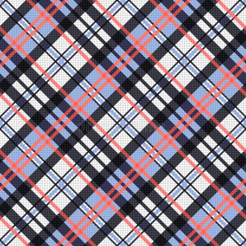 Diagonale textuur van het contrast de naadloze geruite Schots wollen stof vector illustratie