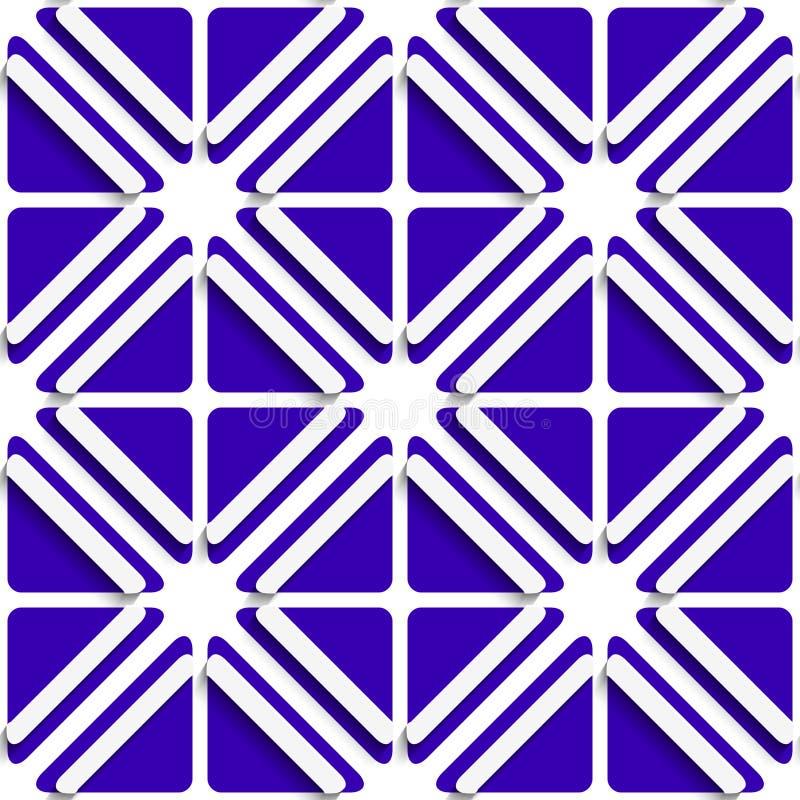 Diagonale weiße Rahmen und tiefes blaues Muster vektor abbildung